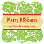 Mele Kalikimaka fancy square labels