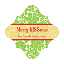 Mele Kalikimaka fancy diamond labels
