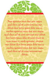 Mele Kalikimaka oval text labels