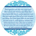 Mele Kalikimaka circle text labels