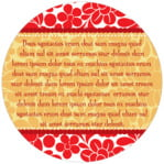 Mele Kalikimaka circle text label