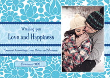 holiday cards - ice blue - mele kalikimaka (set of 10)