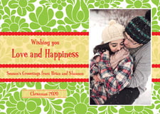 holiday cards - green - mele kalikimaka (set of 10)
