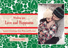 holiday cards - deep green - mele kalikimaka (set of 10)