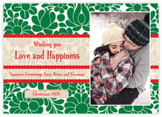 Mele Kalikimaka photo cards - horizontal
