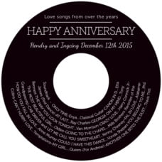 Modern Museo anniversary CD/DVD labels