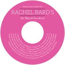 Modern Museo Cd Label In Bright Pink