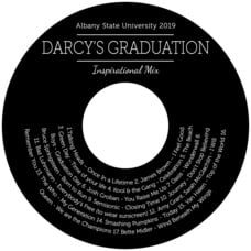 Modern Museo graduation CD/DVD labels