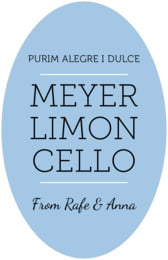Modern Museo tall oval labels
