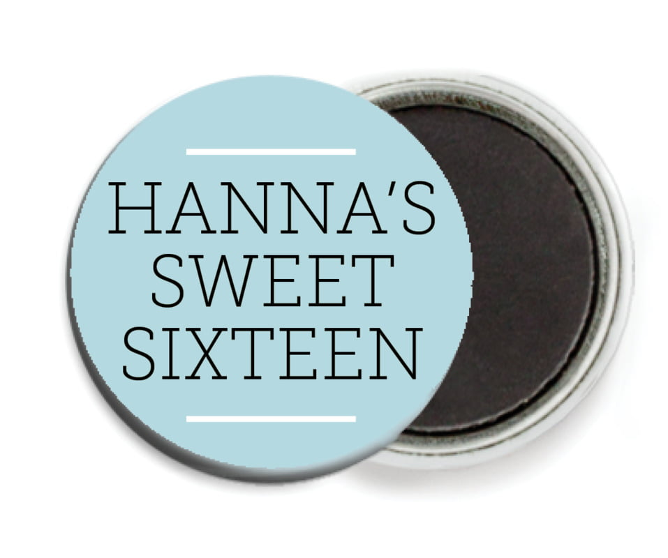 custom button magnets - blue mist - modern museo (set of 6)