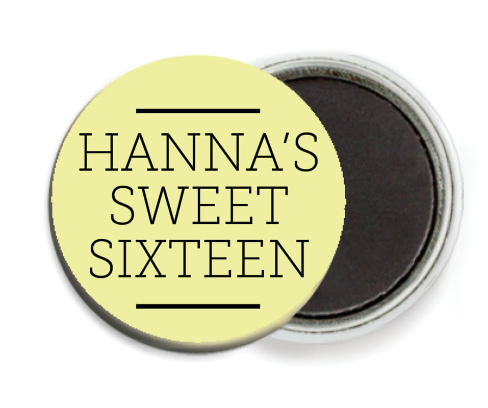 custom button magnets - chartreuse - modern museo (set of 6)