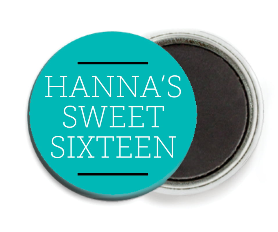 custom button magnets - turquoise - modern museo (set of 6)