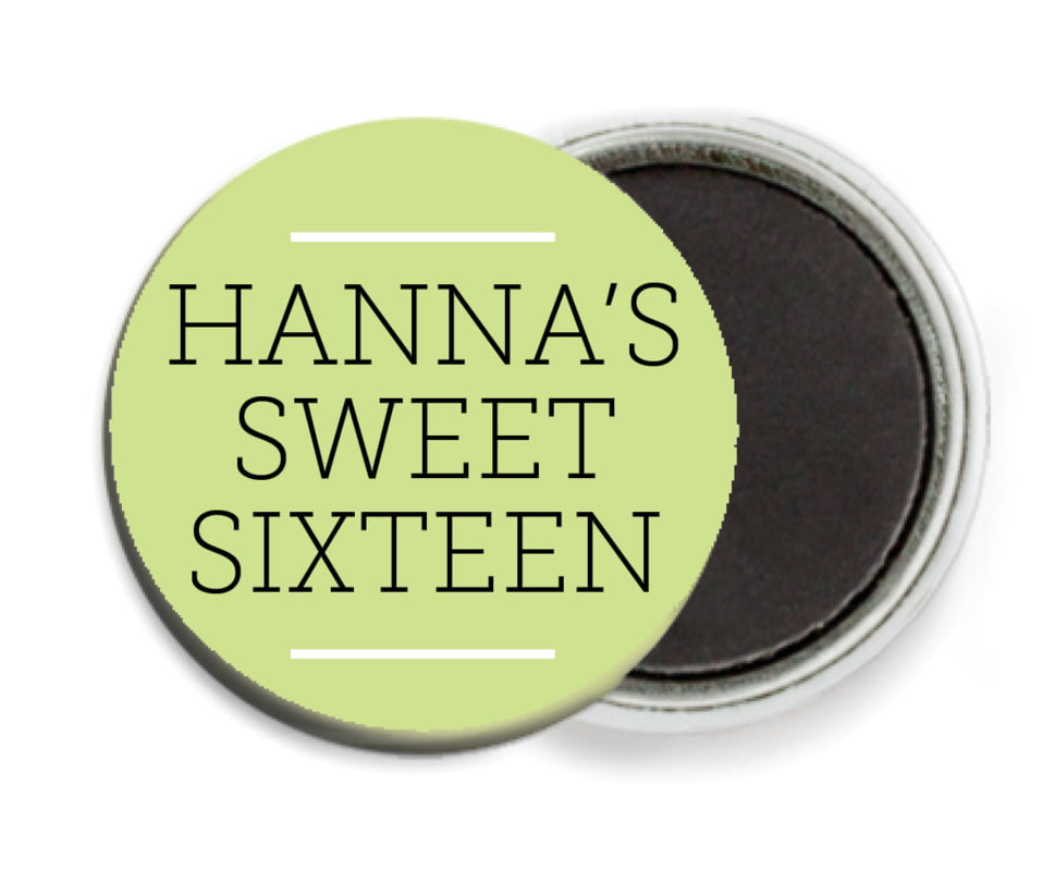 custom button magnets - lime - modern museo (set of 6)