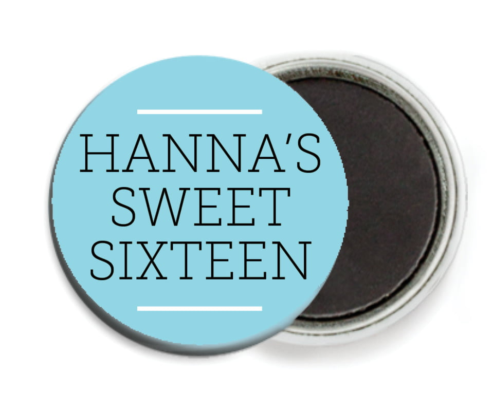 custom button magnets - bahama blue - modern museo (set of 6)