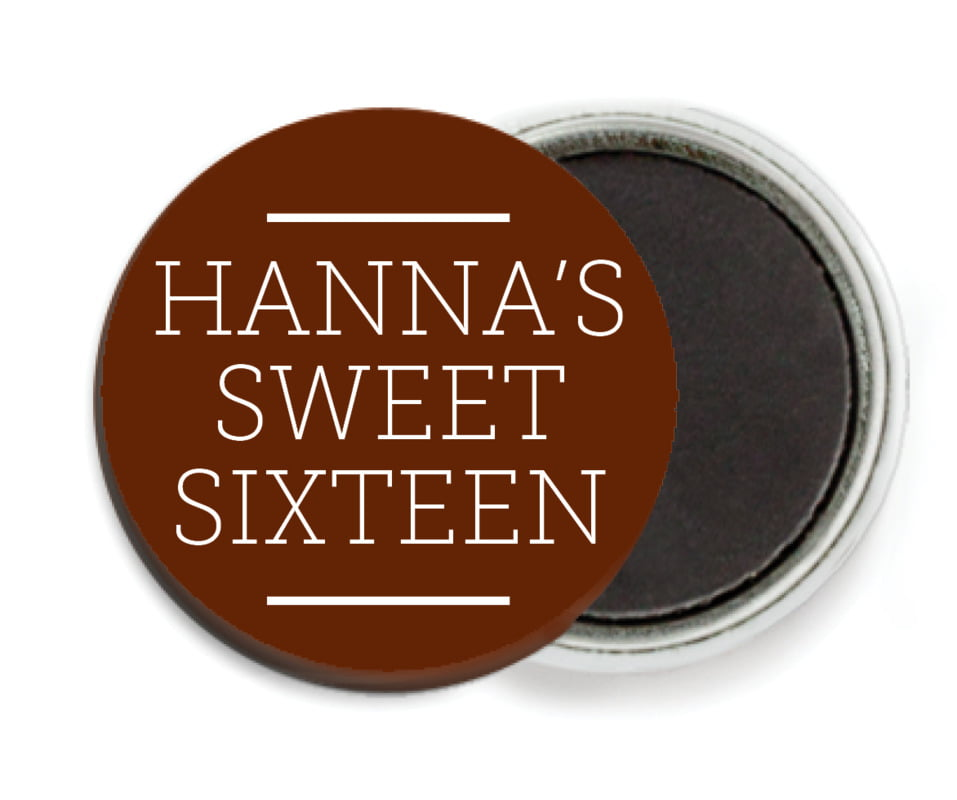 custom button magnets - chocolate - modern museo (set of 6)