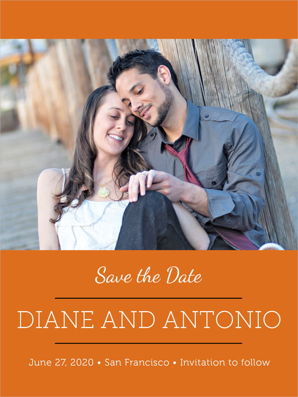 custom tall save the date cards - spice - modern museo (set of 10)