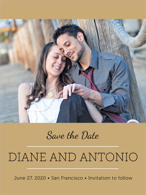 custom tall save the date cards - kraft - modern museo (set of 10)