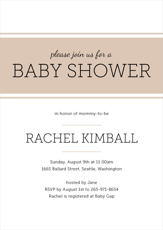 baby shower invitations - mocha - modern museo (set of 10)