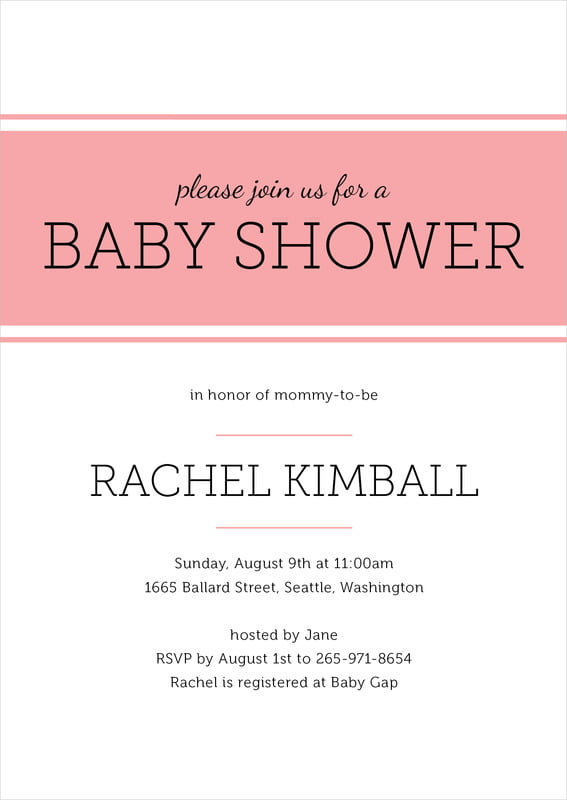 baby shower invitations - grapefruit - modern museo (set of 10)
