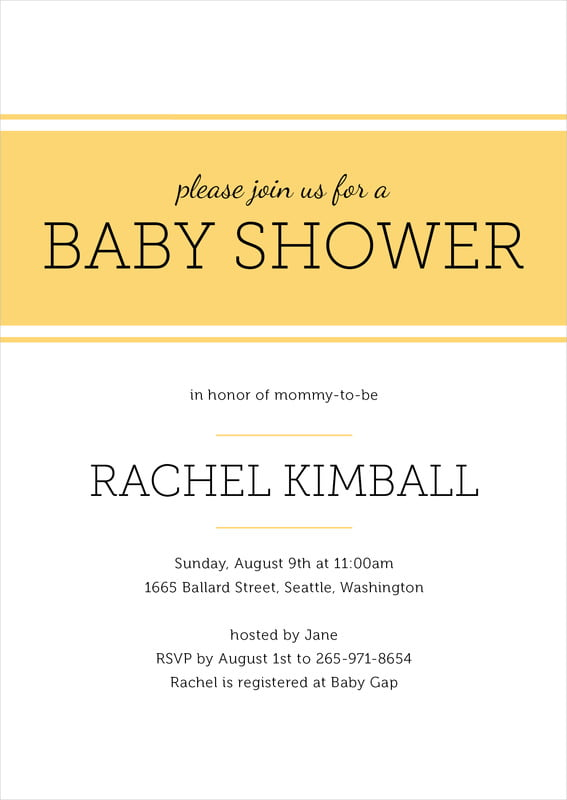 baby shower invitations - sunburst - modern museo (set of 10)