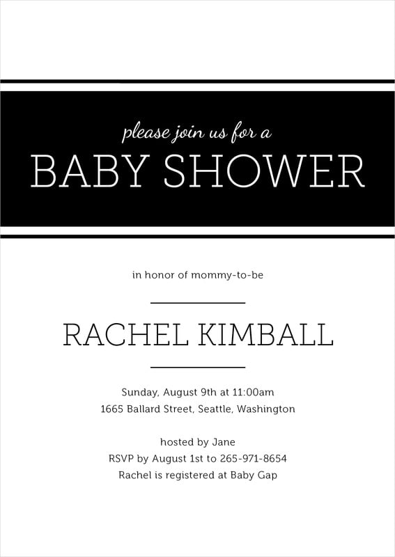 baby shower invitations - tuxedo - modern museo (set of 10)