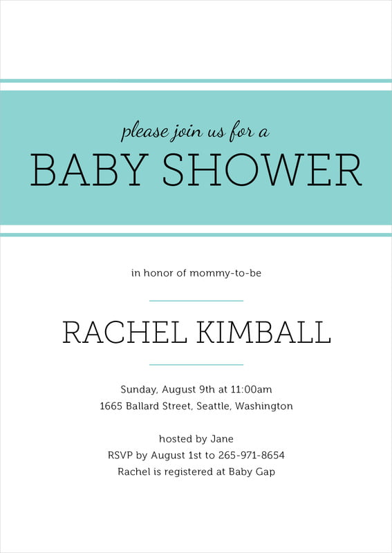 baby shower invitations - aruba - modern museo (set of 10)