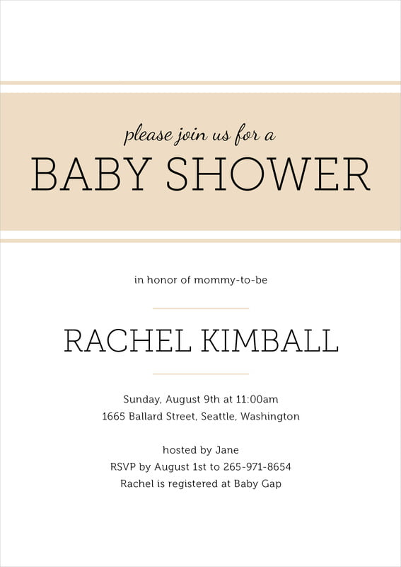 baby shower invitations - cappuccino - modern museo (set of 10)