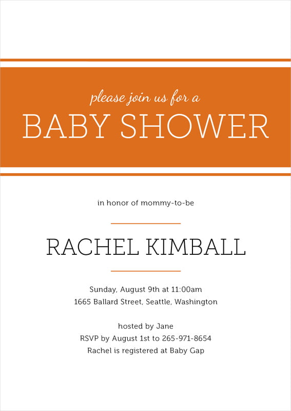 baby shower invitations - spice - modern museo (set of 10)