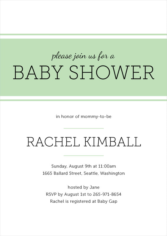 baby shower invitations - mint - modern museo (set of 10)