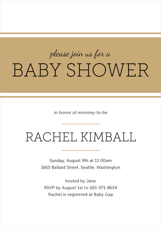 baby shower invitations - kraft - modern museo (set of 10)