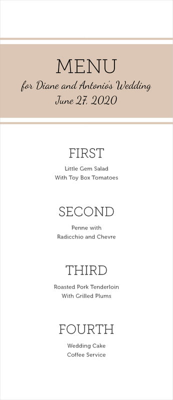 custom menus - mocha - modern museo (set of 10)