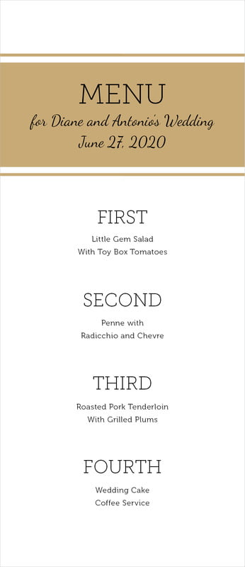 custom menus - kraft - modern museo (set of 10)
