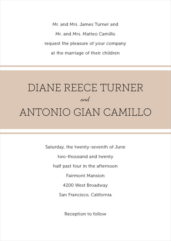 custom invitations - mocha - modern museo (set of 10)