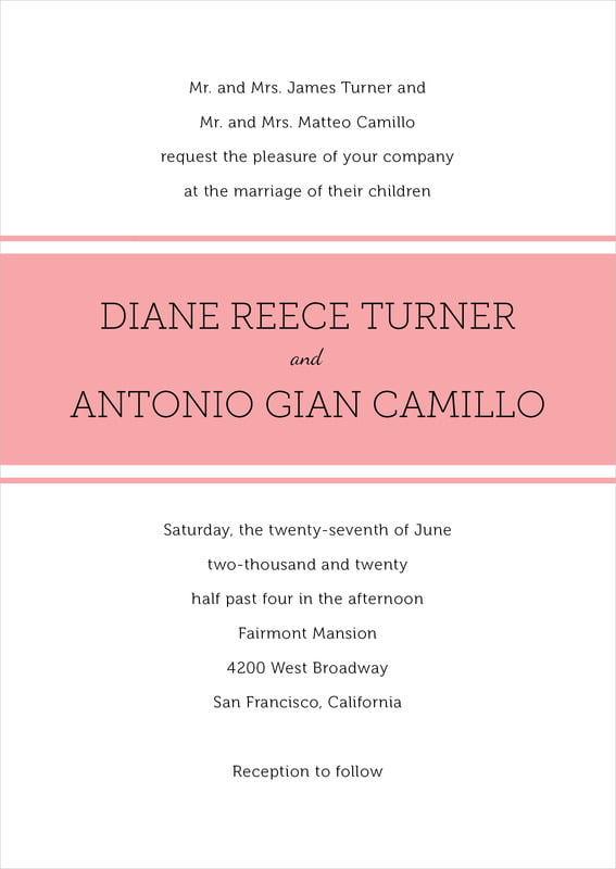 custom invitations - grapefruit - modern museo (set of 10)