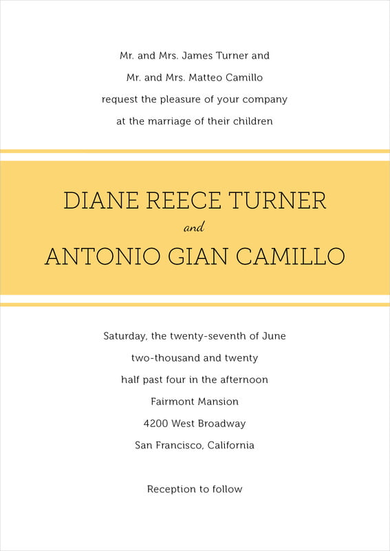 custom invitations - sunburst - modern museo (set of 10)
