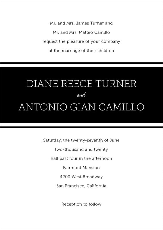 custom invitations - tuxedo - modern museo (set of 10)