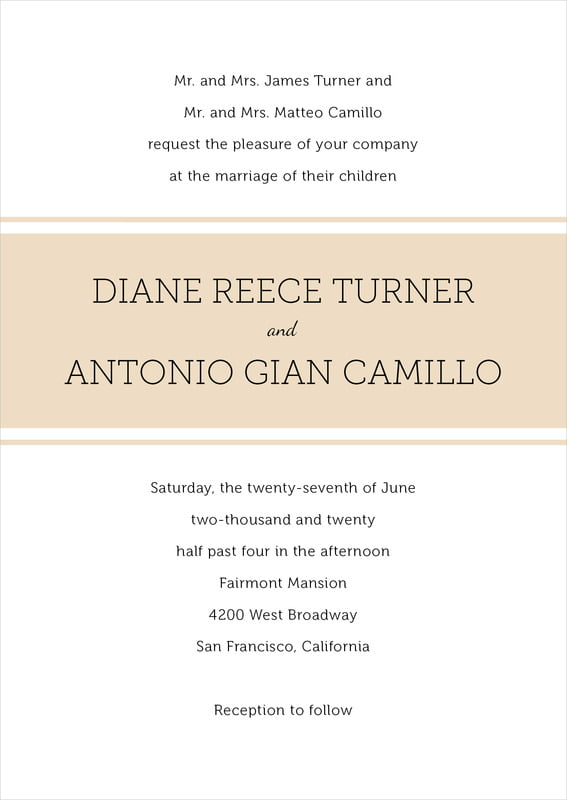 custom invitations - cappuccino - modern museo (set of 10)