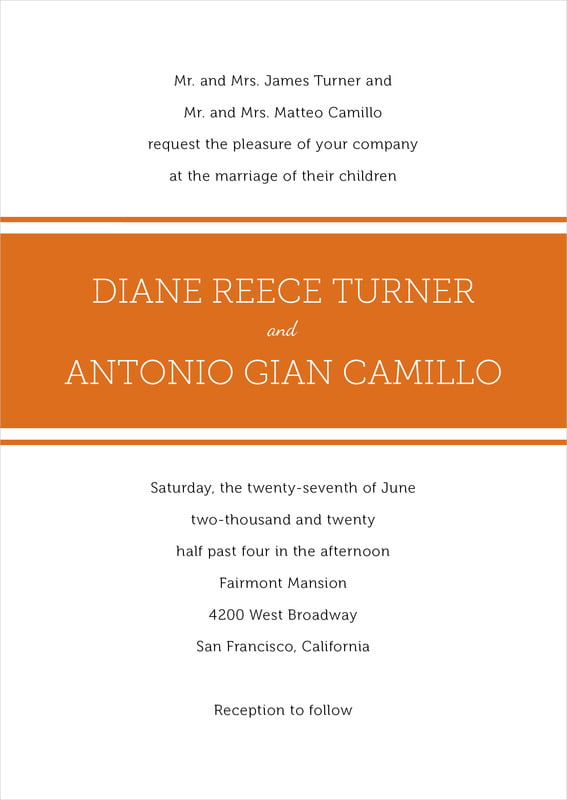 custom invitations - spice - modern museo (set of 10)