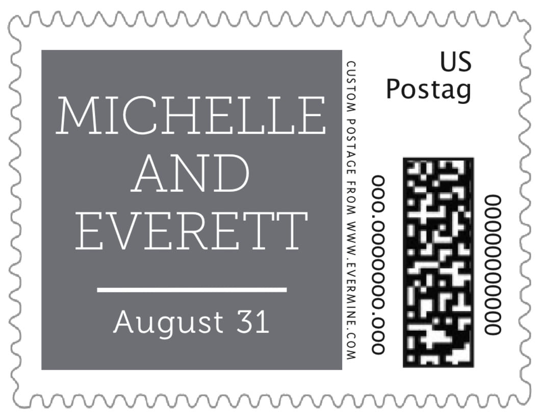 small custom postage stamps - charcoal - modern museo (set of 20)