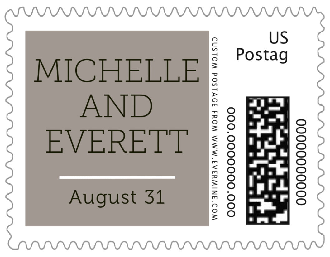 small custom postage stamps - warm grey - modern museo (set of 20)