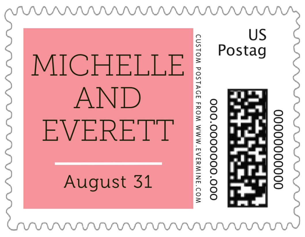 small custom postage stamps - grapefruit - modern museo (set of 20)