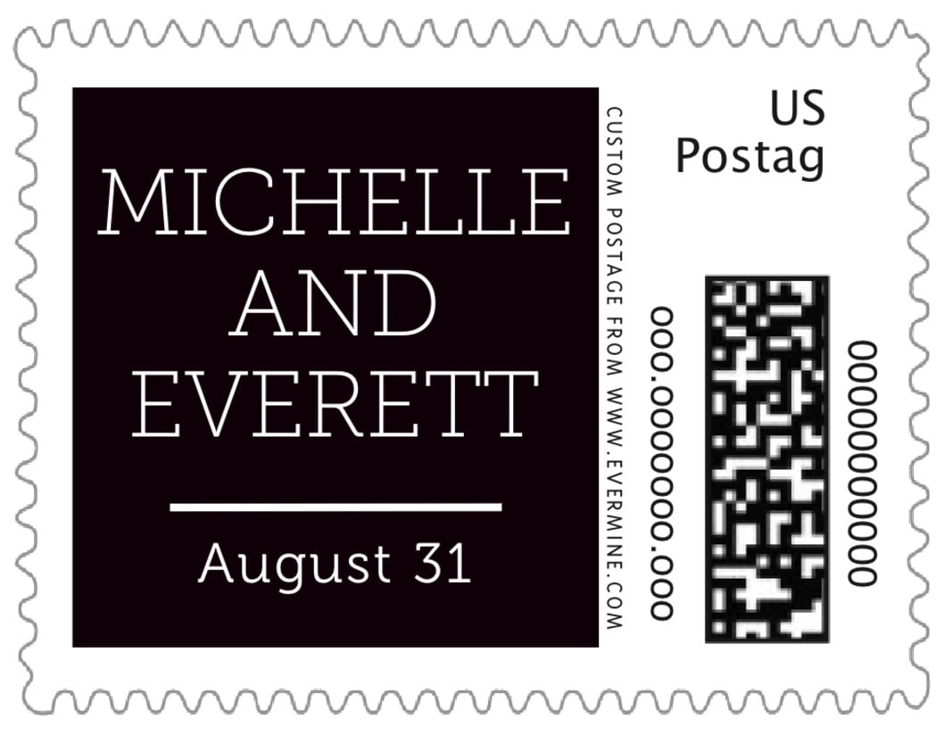 small custom postage stamps - tuxedo - modern museo (set of 20)