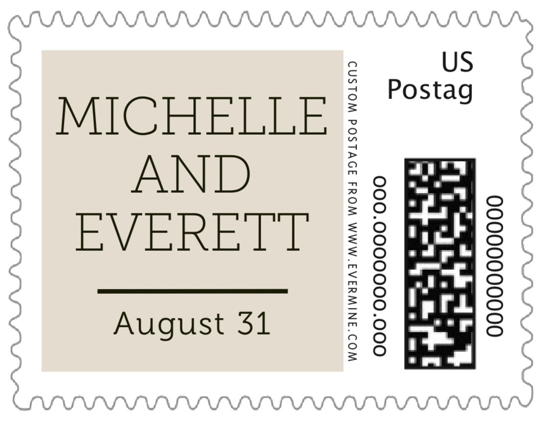 small custom postage stamps - champagne - modern museo (set of 20)