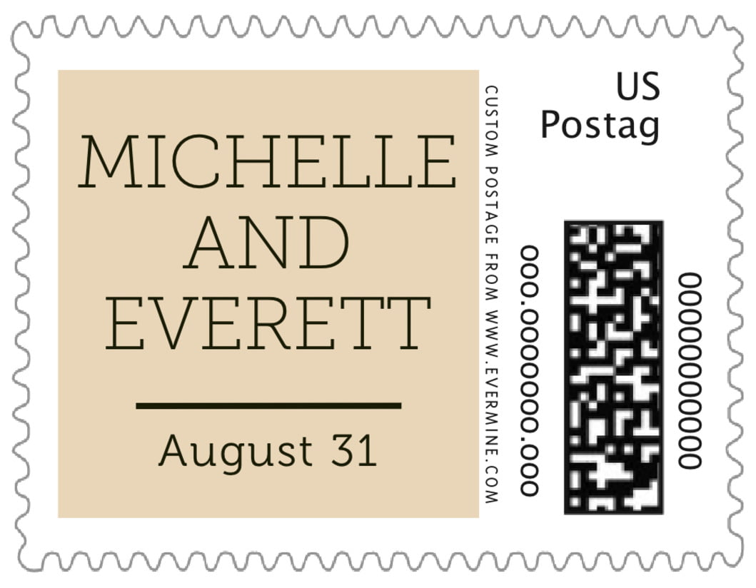 small custom postage stamps - cappuccino - modern museo (set of 20)