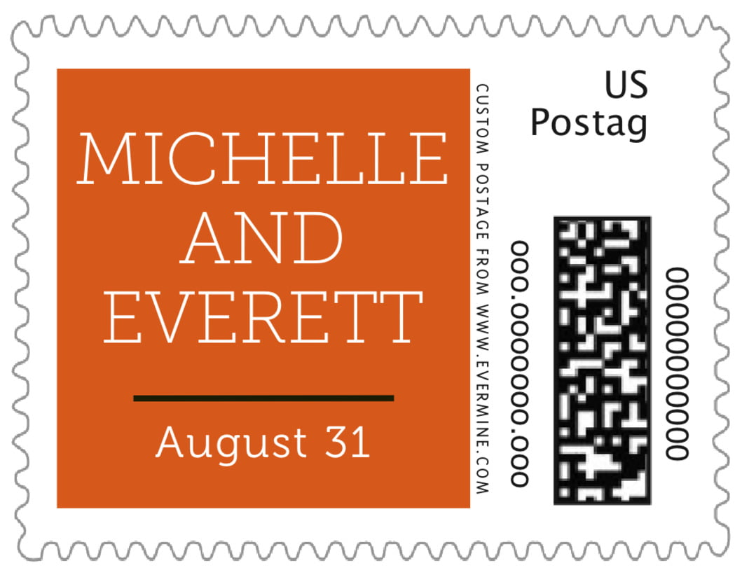 small custom postage stamps - spice - modern museo (set of 20)