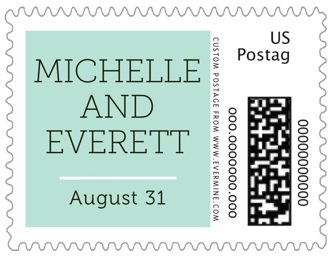 small custom postage stamps - sea glass - modern museo (set of 20)