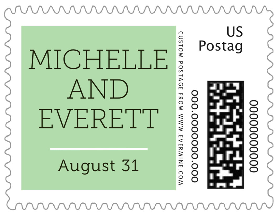 small custom postage stamps - mint - modern museo (set of 20)