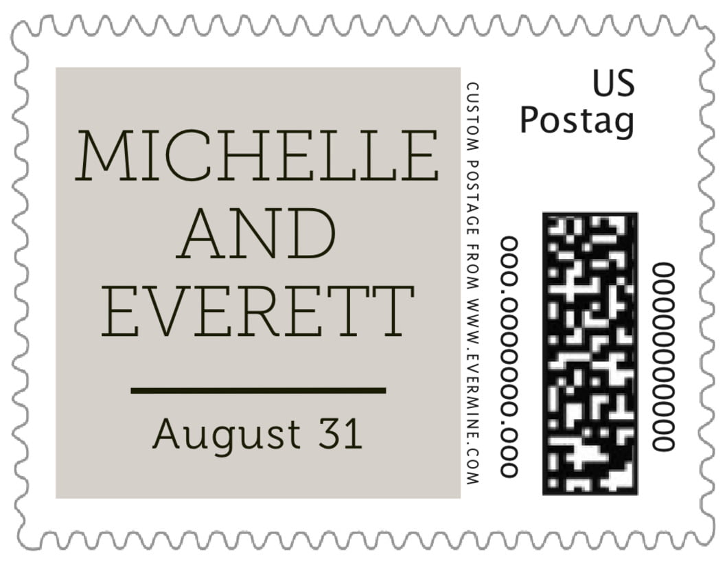 small custom postage stamps - stone - modern museo (set of 20)