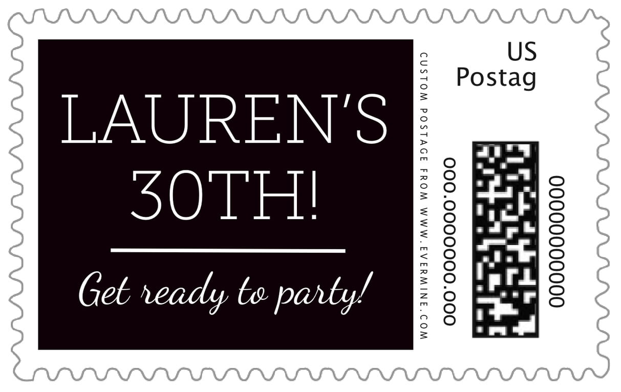 custom large postage stamps - tuxedo - modern museo (set of 20)