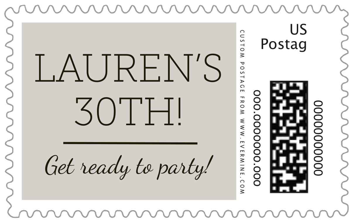 custom large postage stamps - stone - modern museo (set of 20)